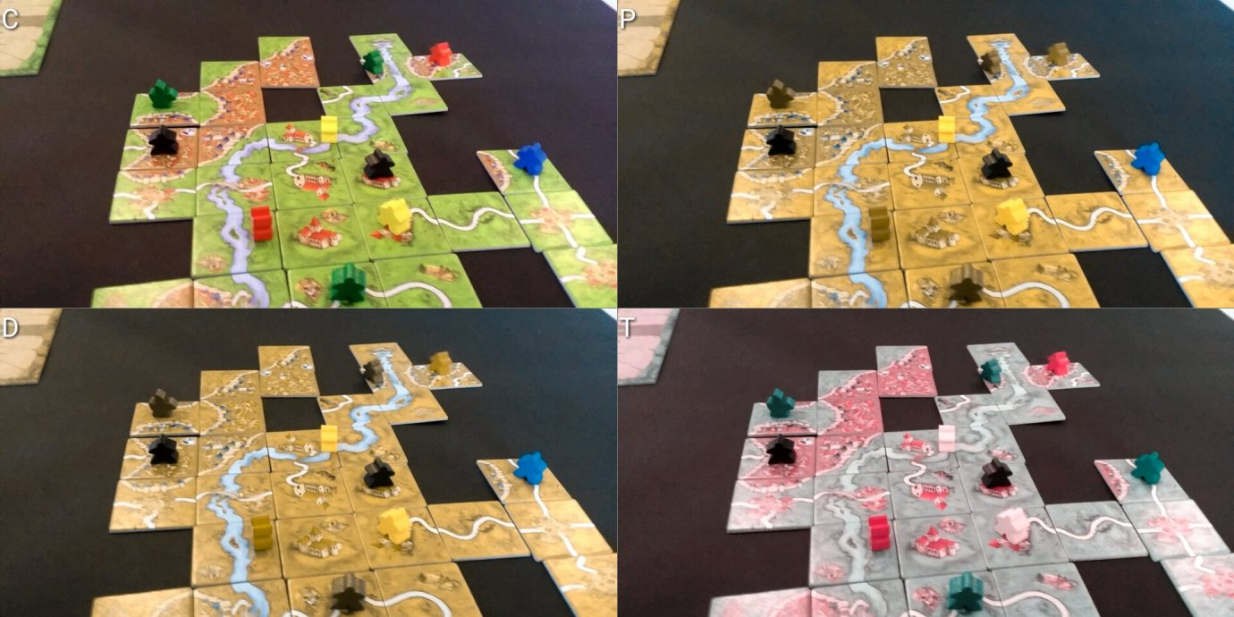 Colour Blind Meeples on Map