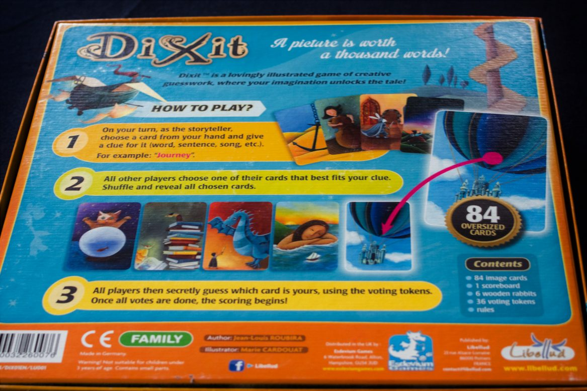Back of Dixit Box