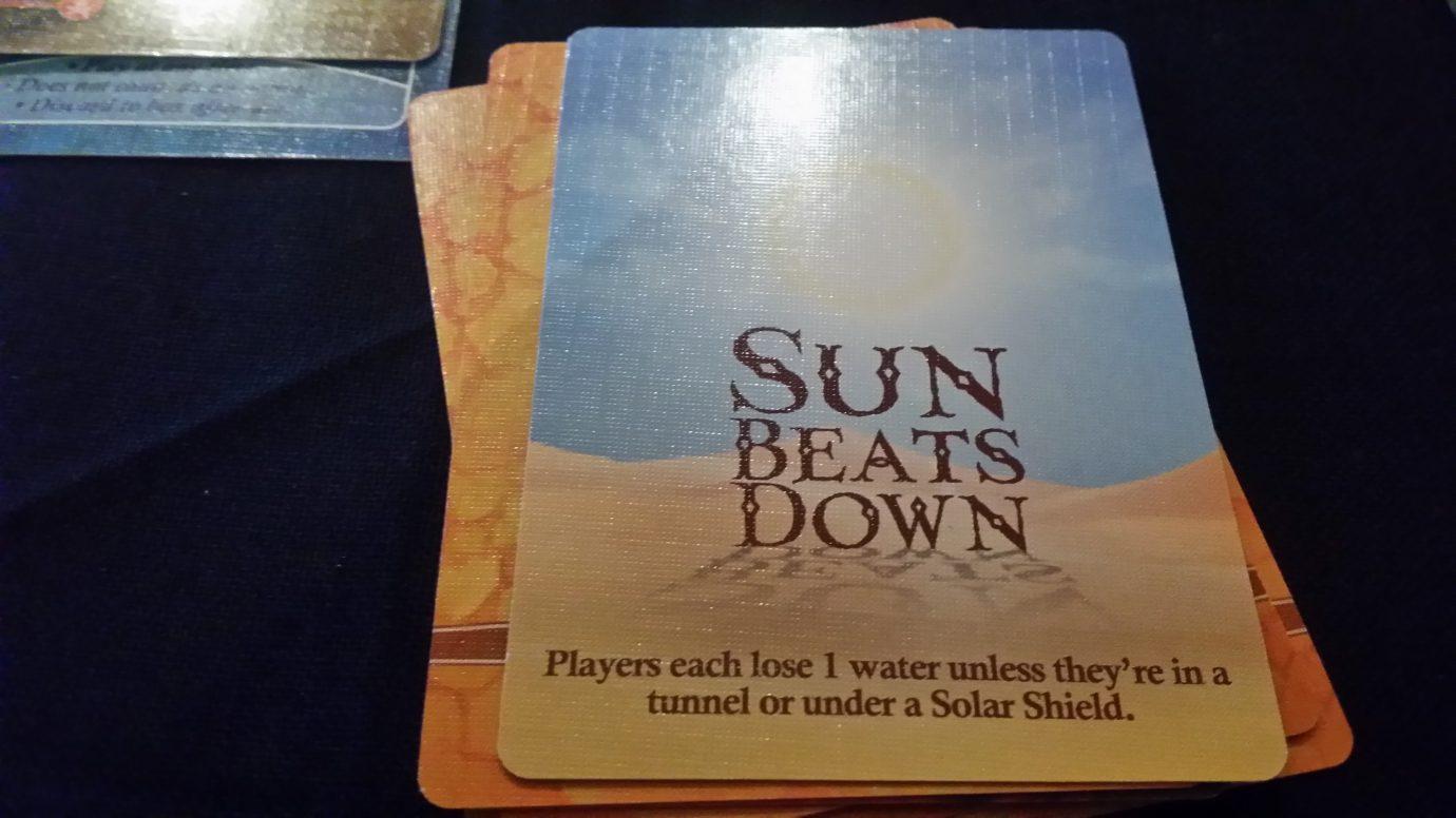 The sun beats down