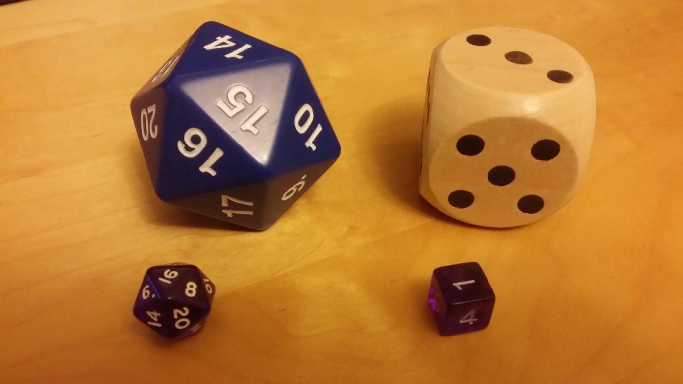 Oversized dice