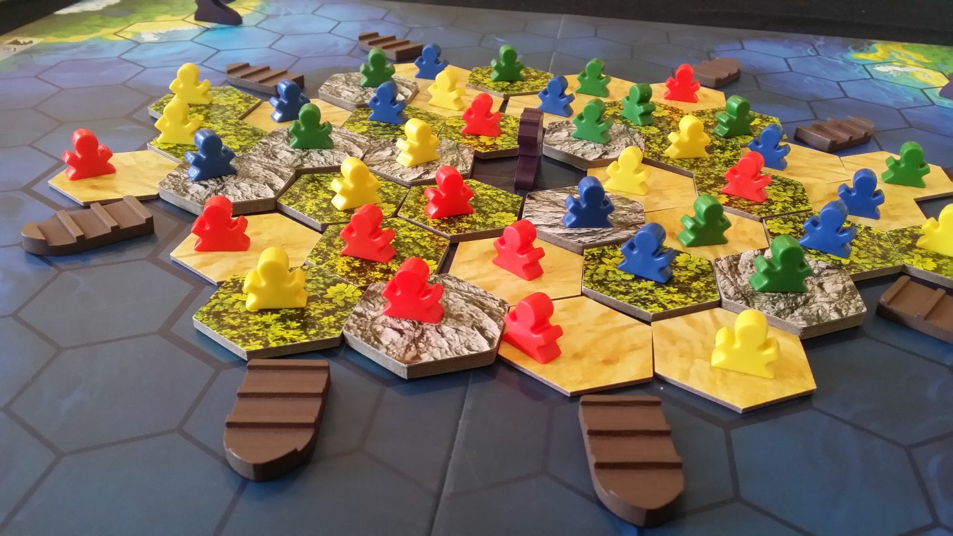 Meeple on the board