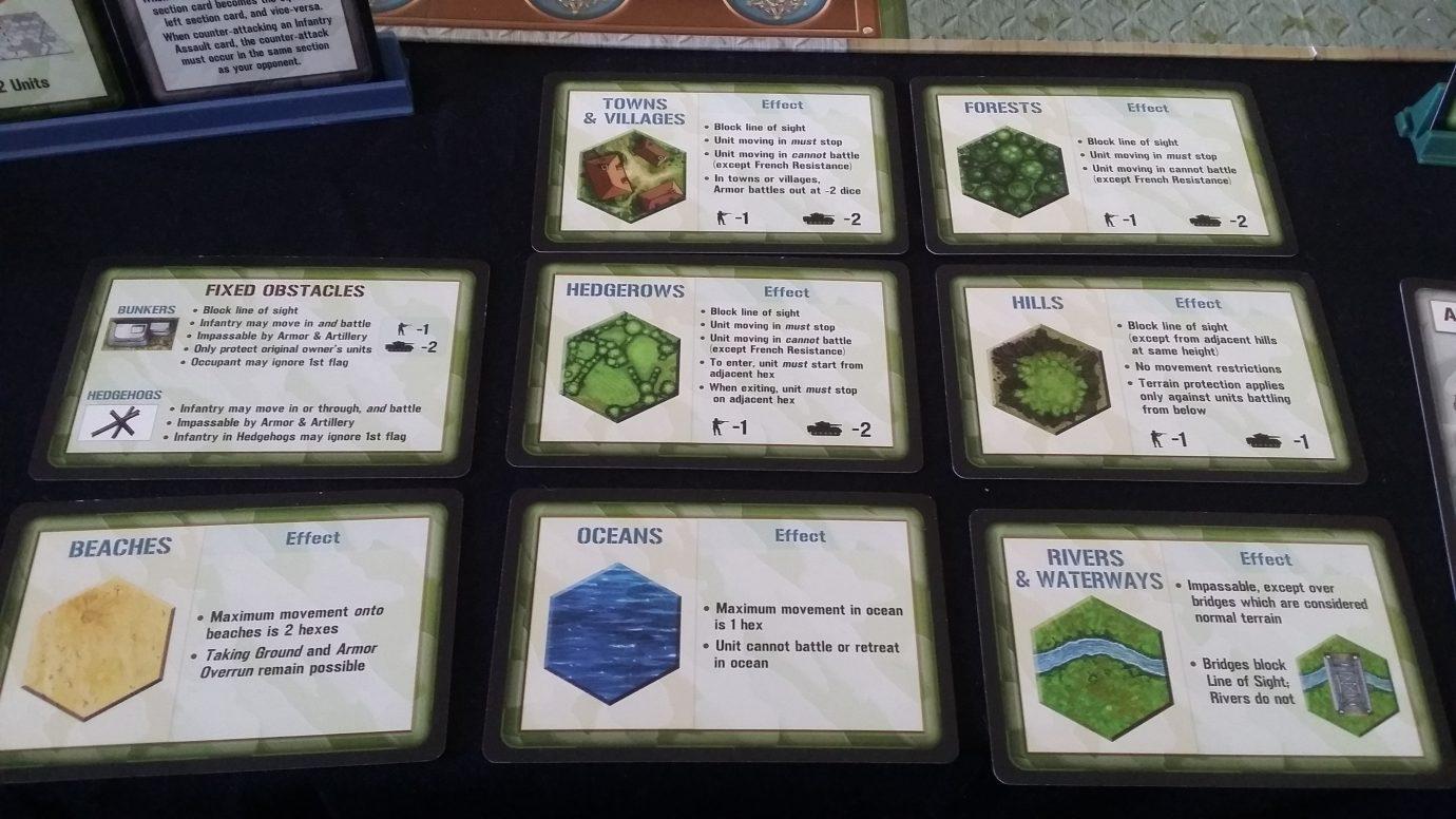 Terrain cards