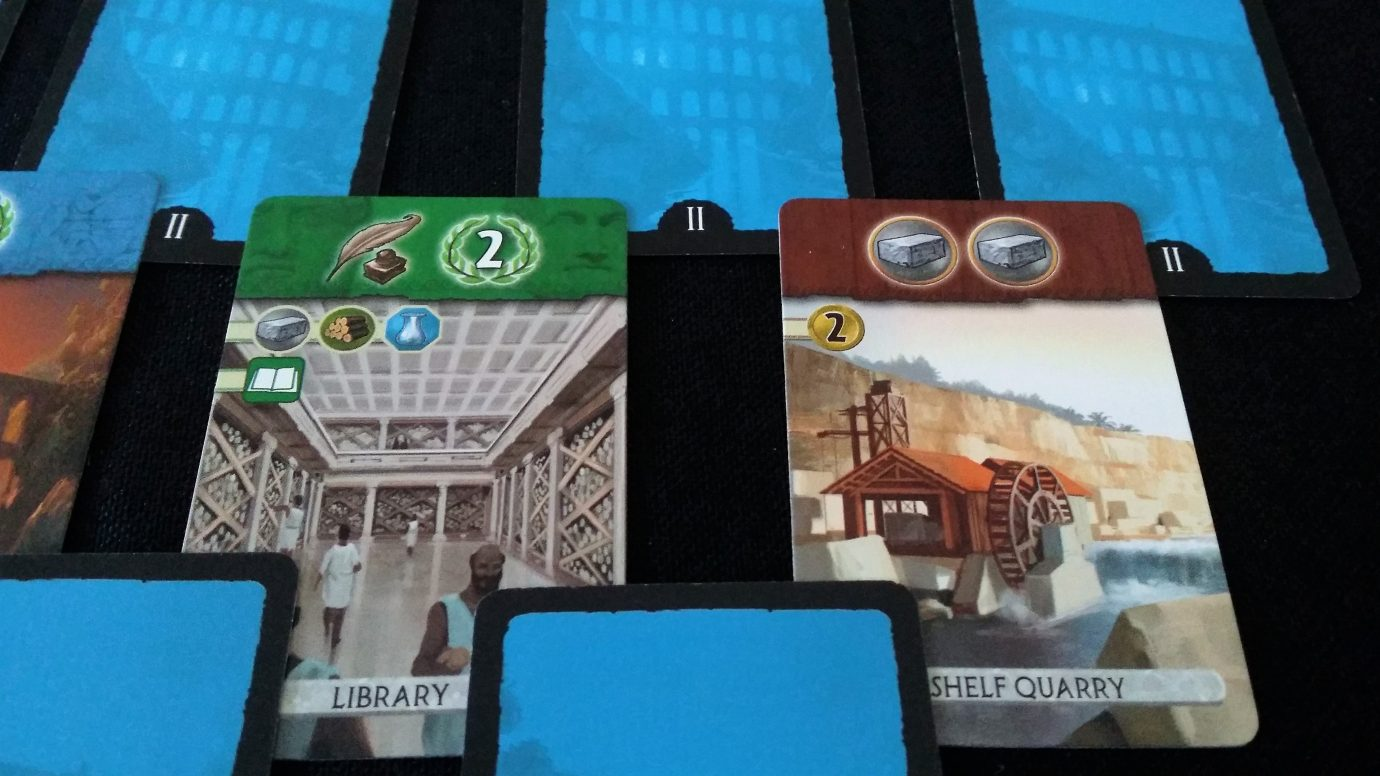 Close up of second age cards