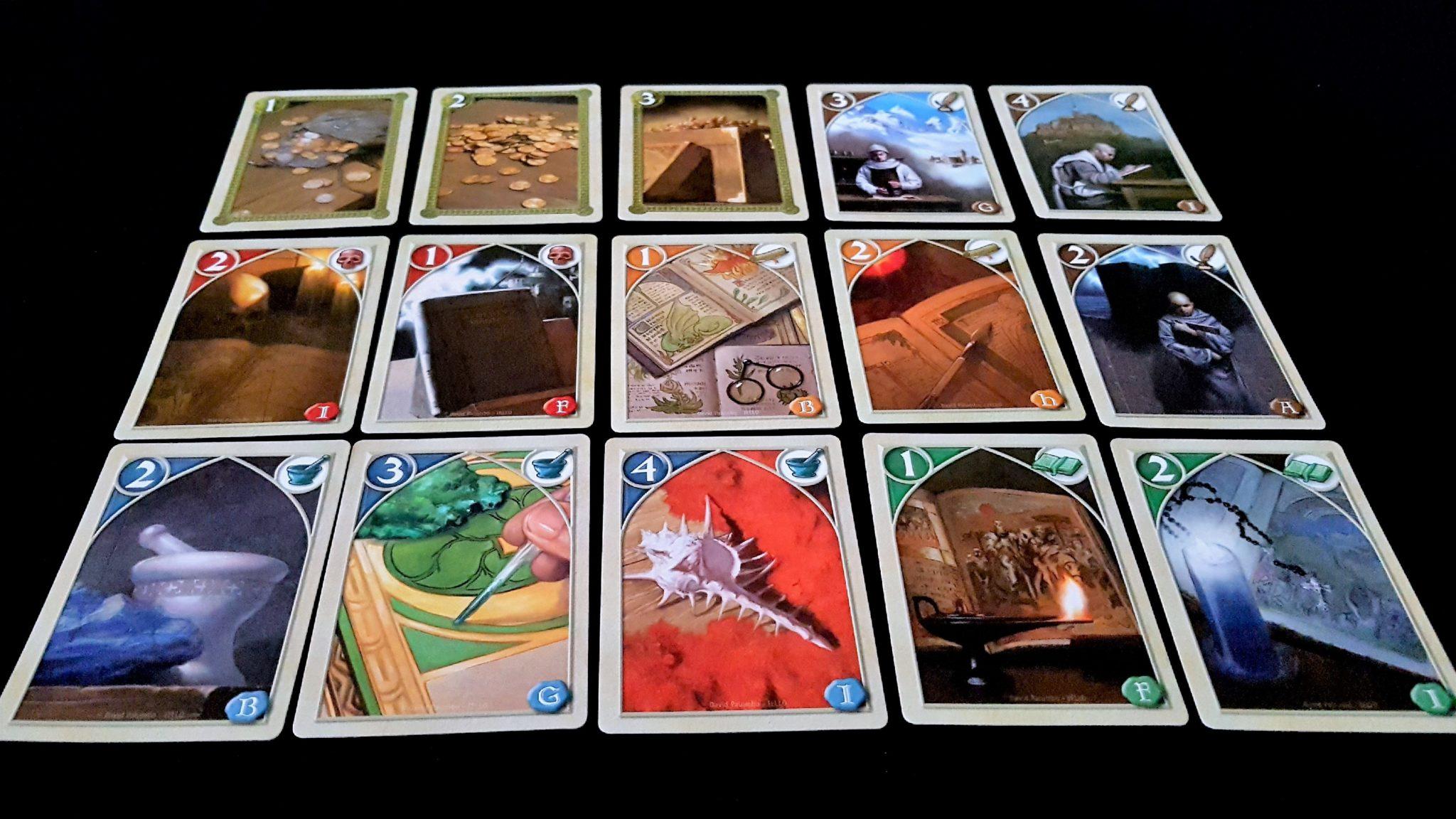 Biblios card selection
