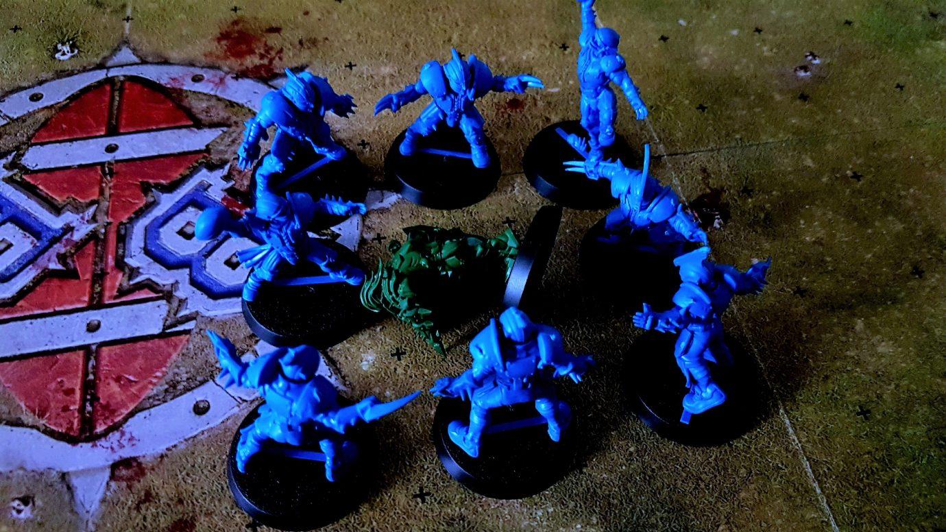 Cage around a fallen player