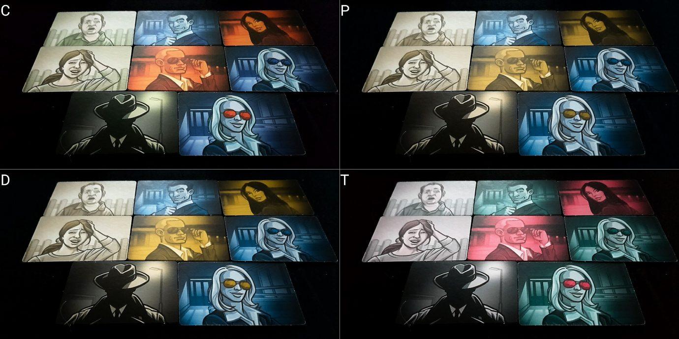 Colour blind spy cards