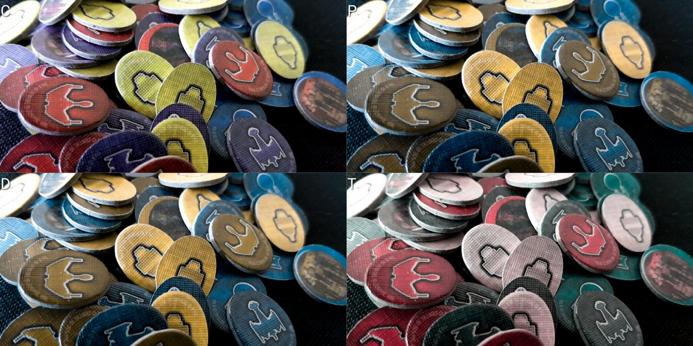 Colour blind faction tokens