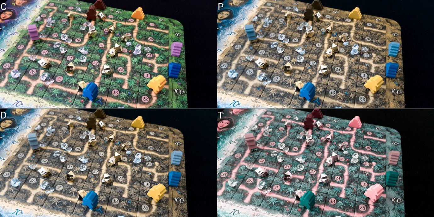 Colour blind map with meeple