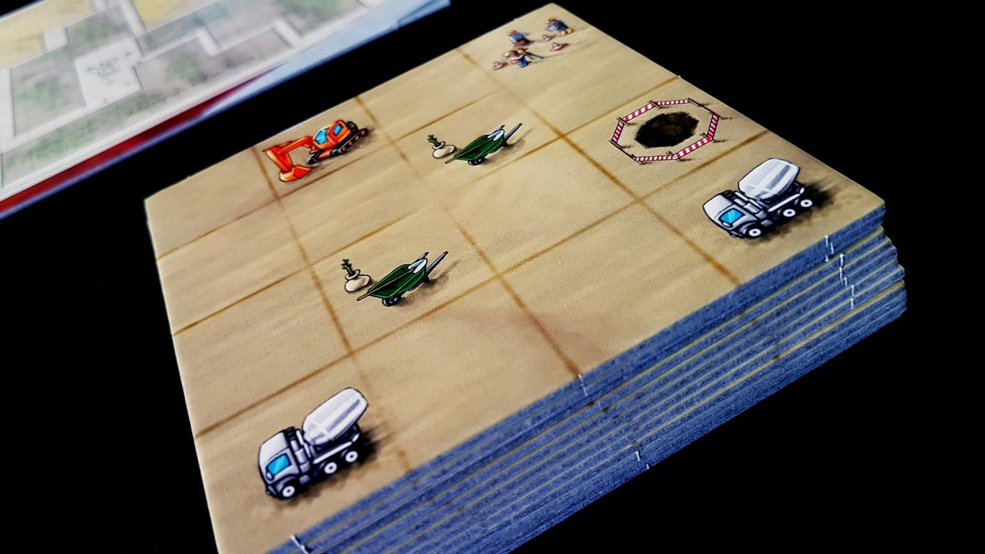 Close up on a player board