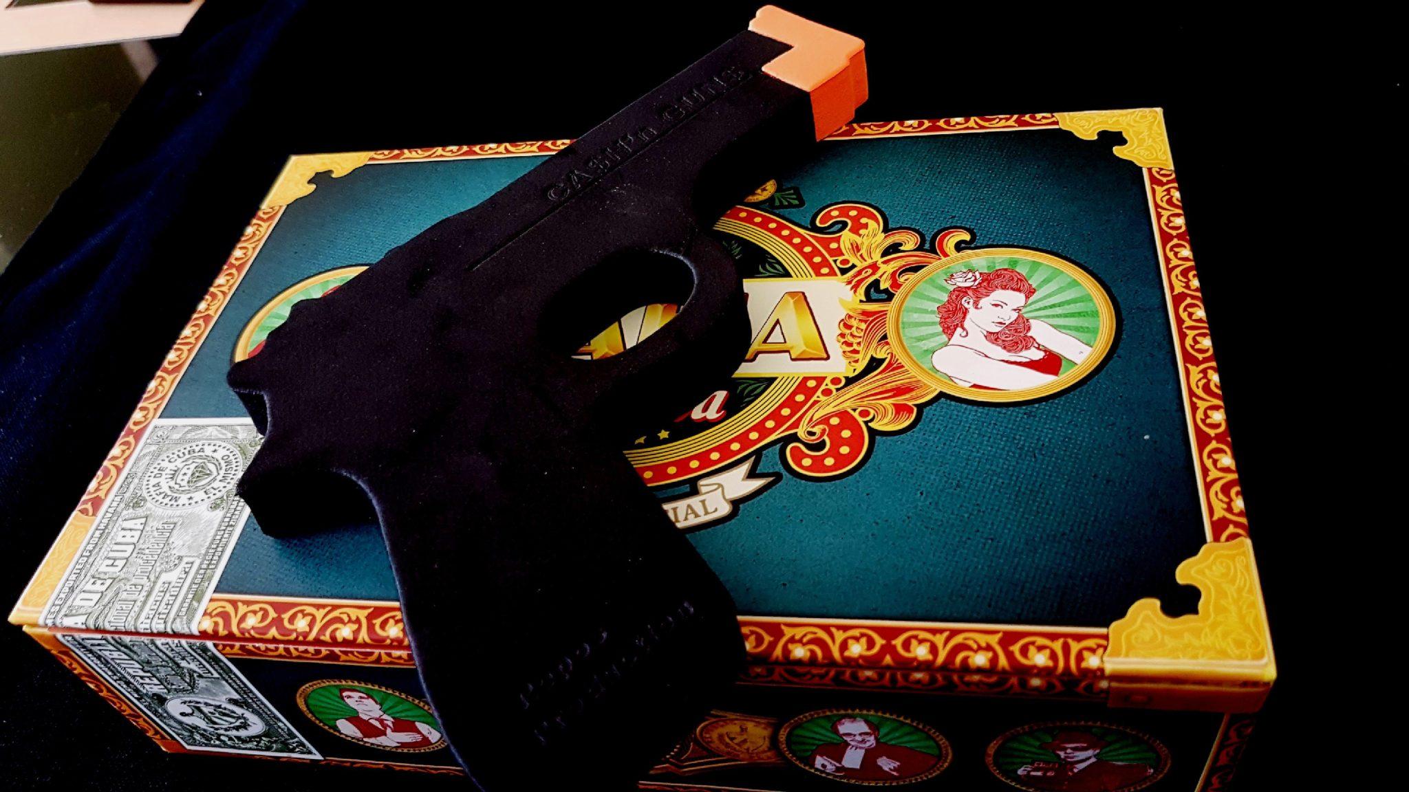Gun on box