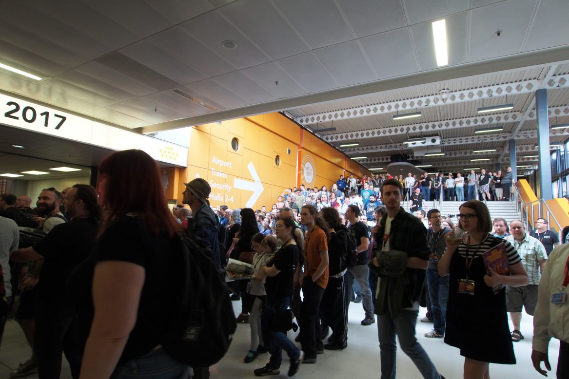 The crowd entering UKGE