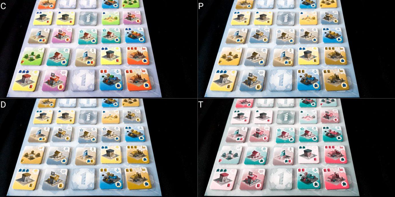 Colour blind grid