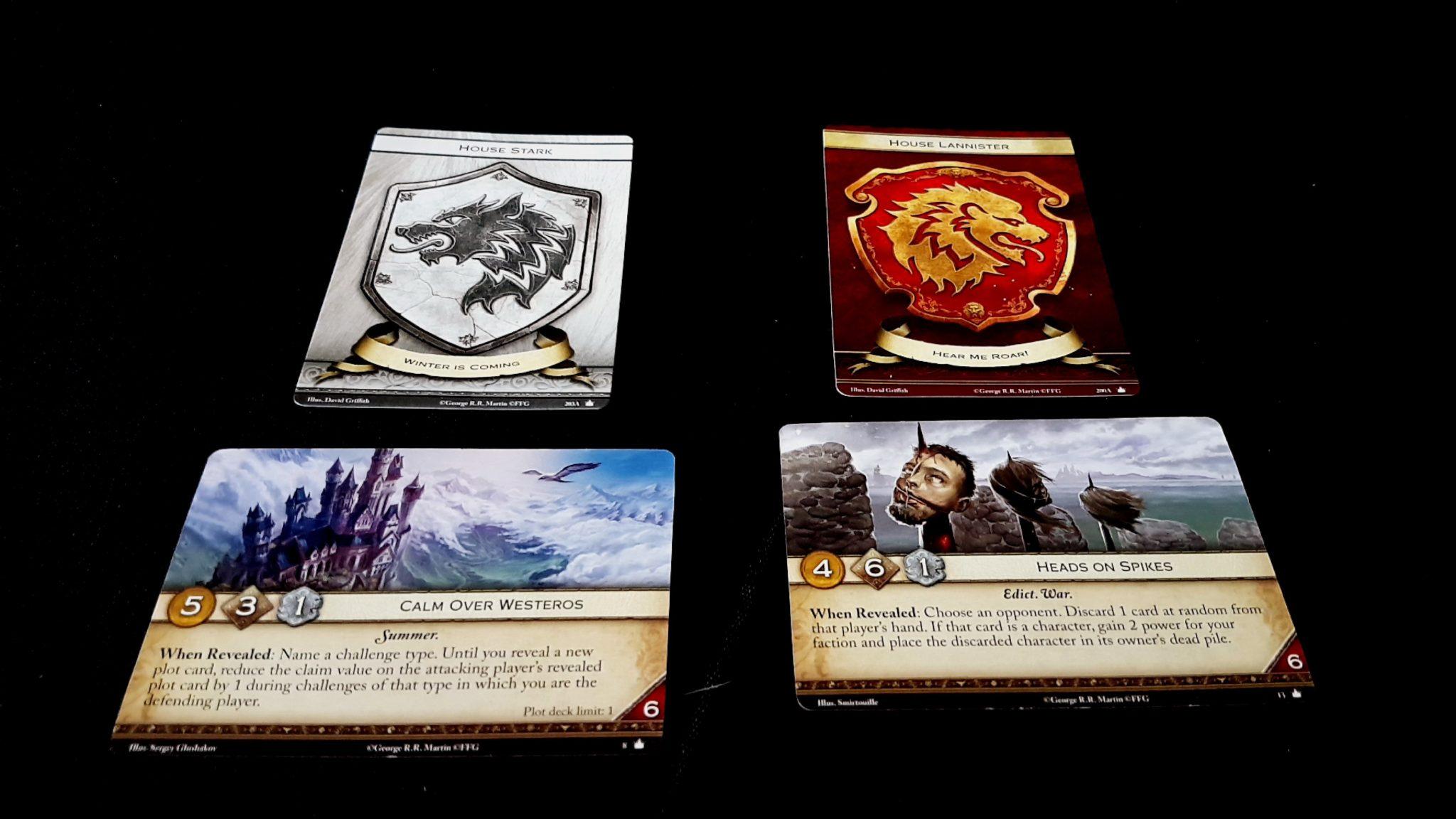 Revealed plot cards
