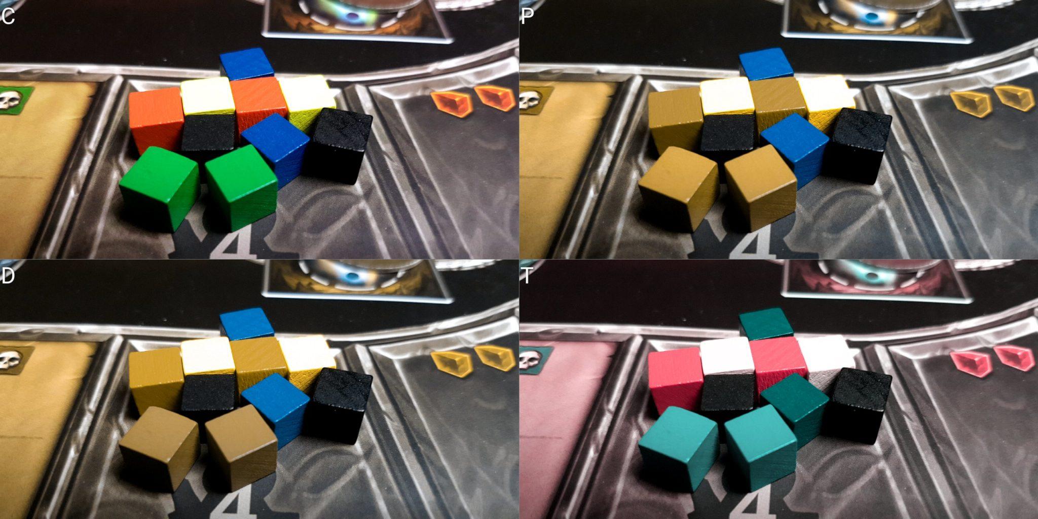Colour blindness cubes