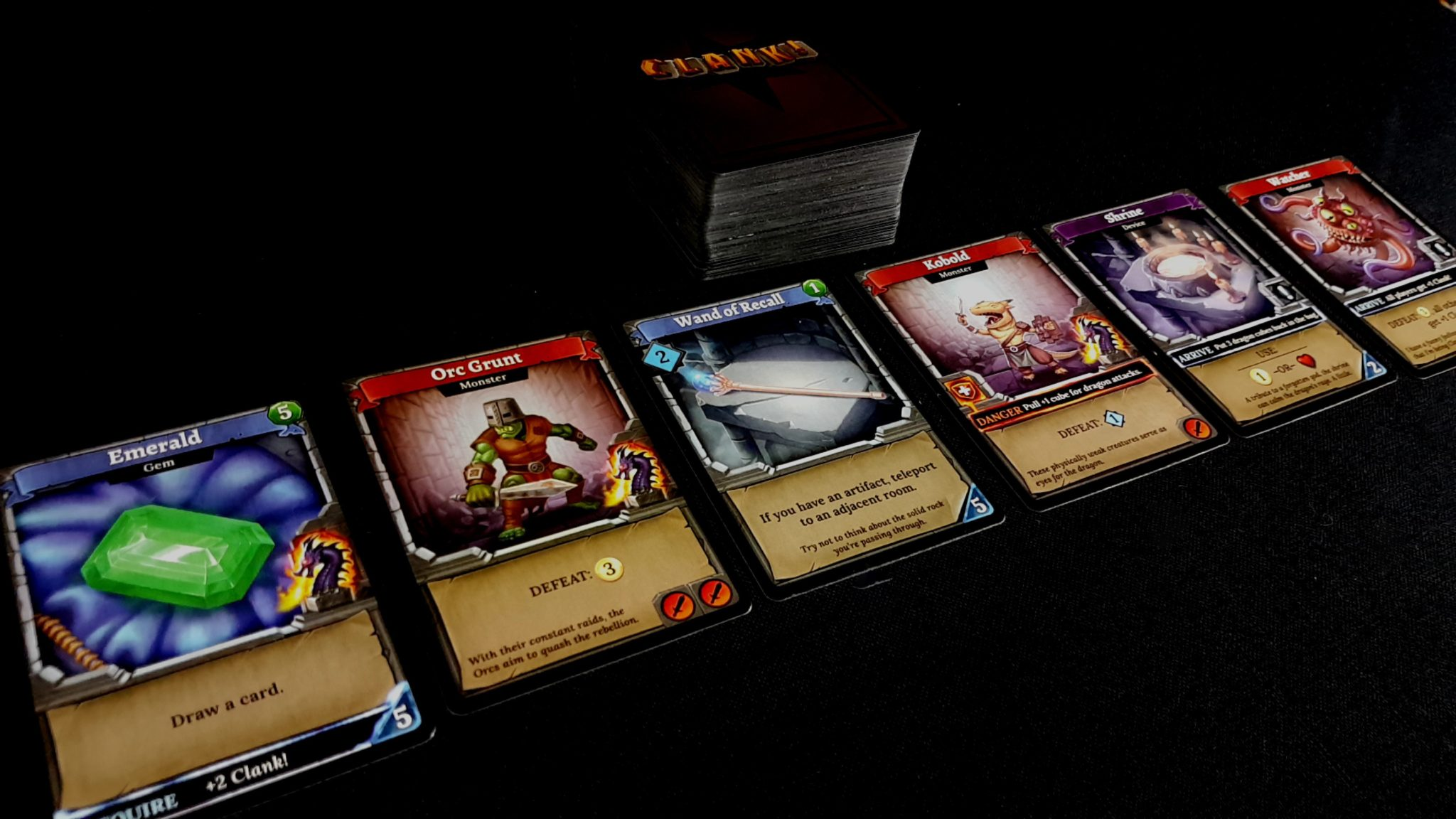 The Dungeon Row of cards