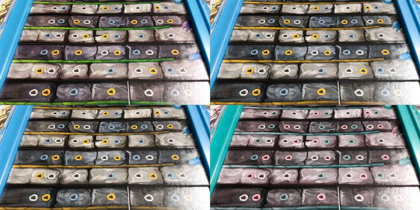 Colour blind rock strips