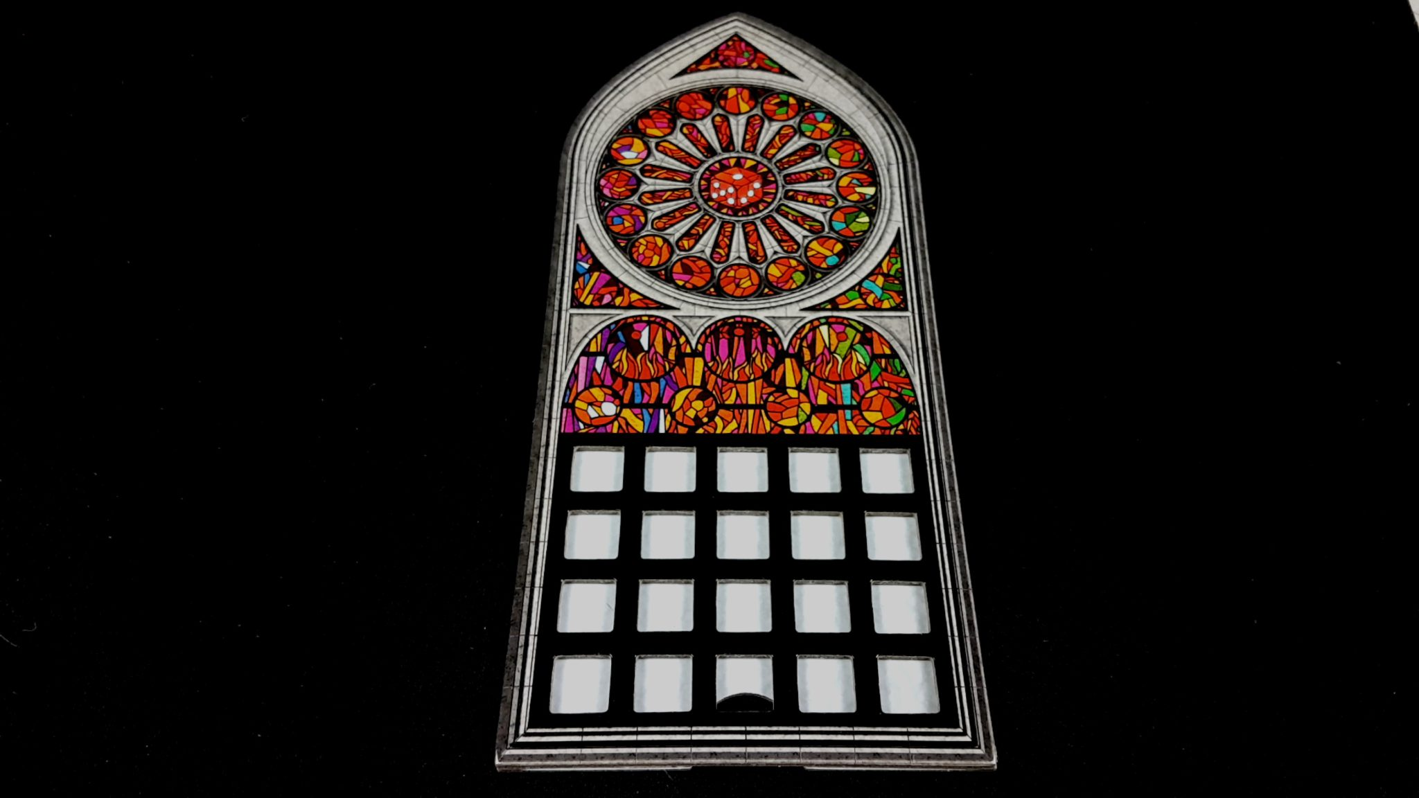 Window frame in Sagrada