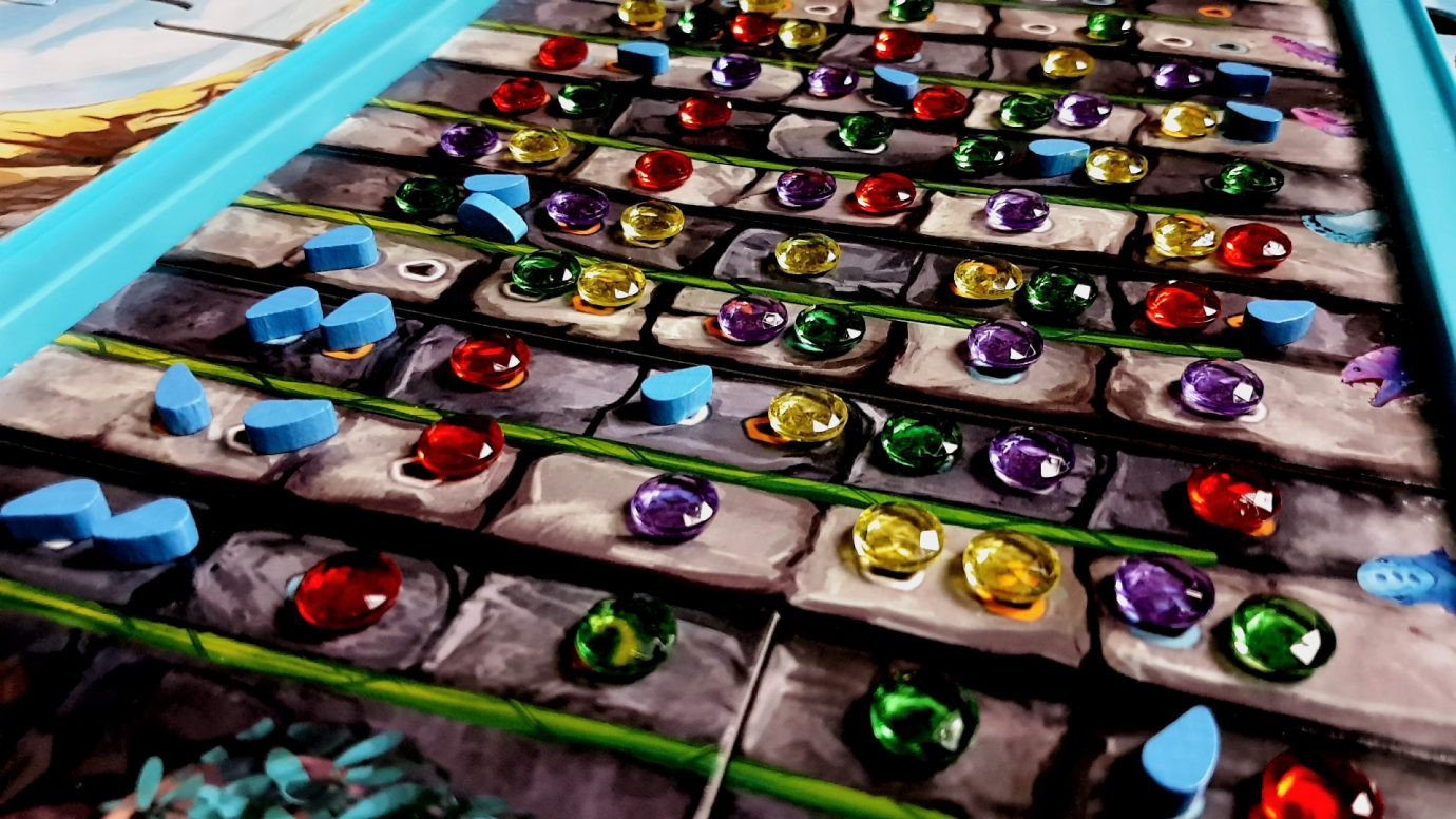 Game board without gems