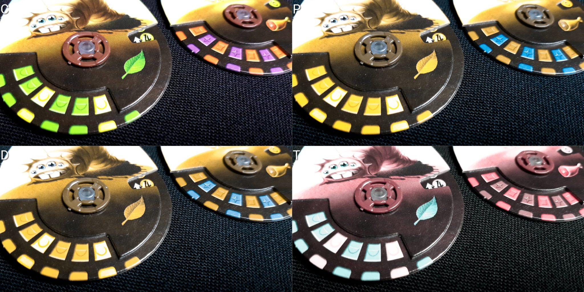 Colour blind pet dials