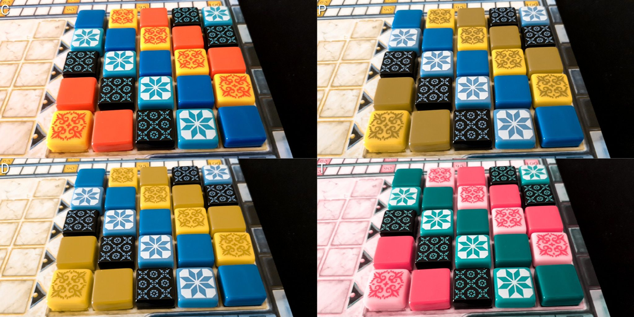 Colour blindness tiles