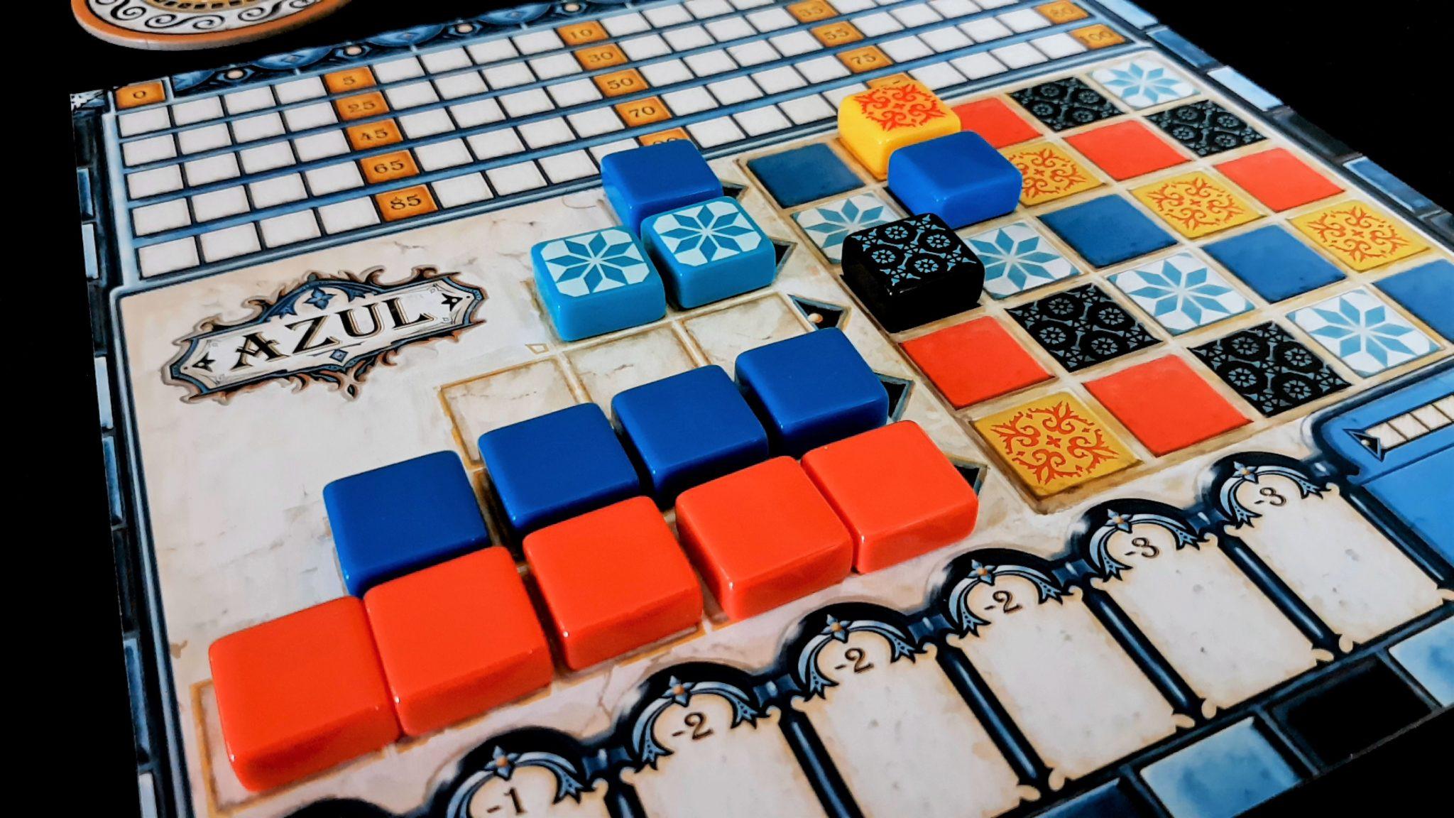Azul tiles and the wall