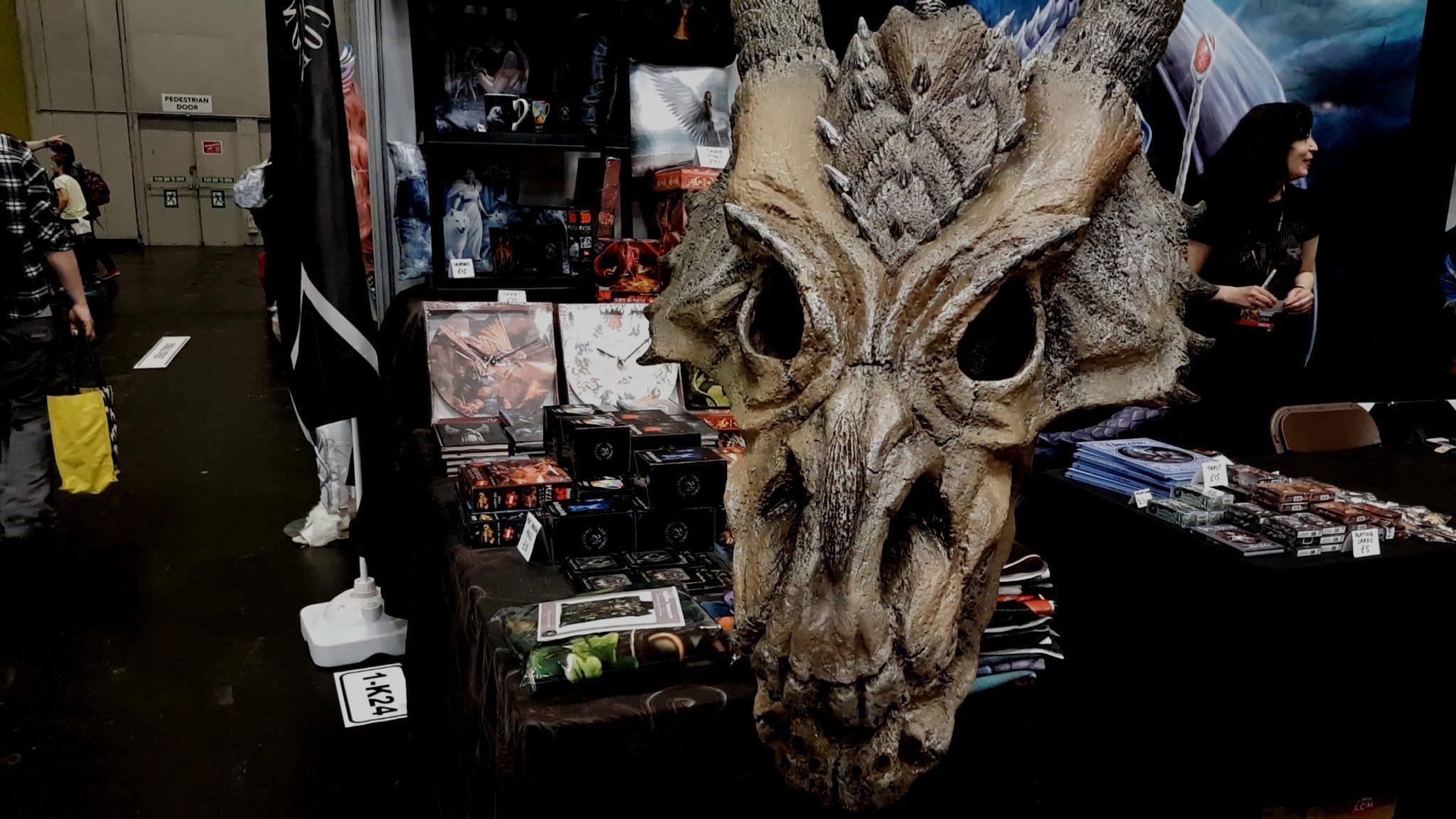 A dragon skull prop