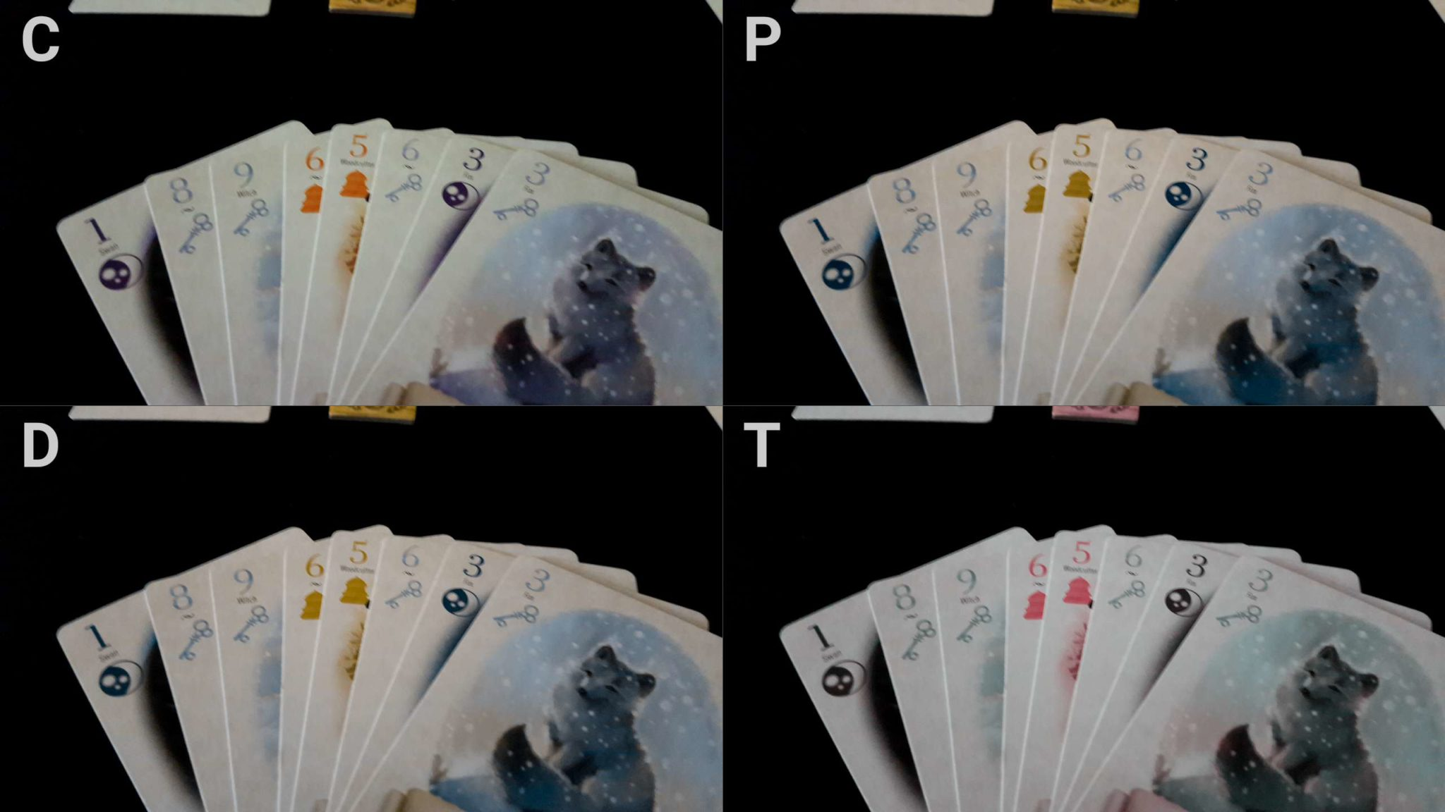 Colour blindness and cards