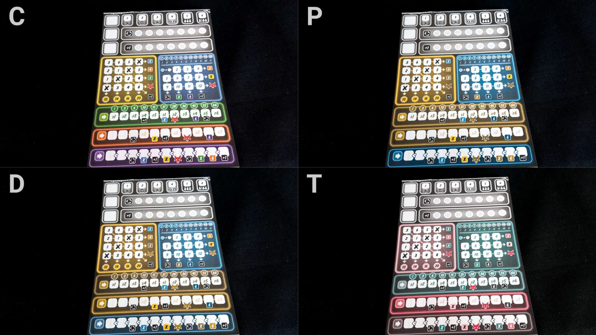 Colour blindness sheets