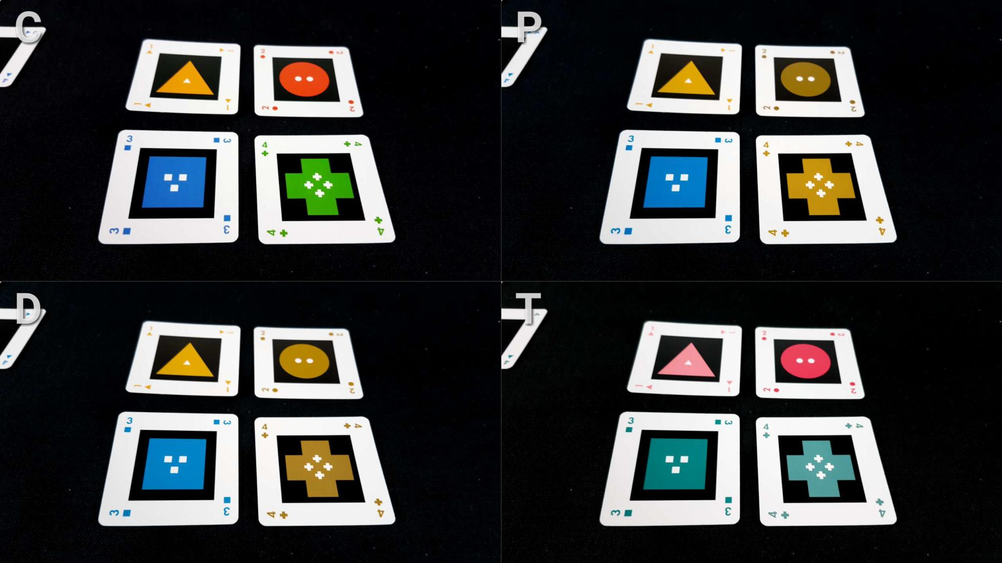 Colour blindness cards