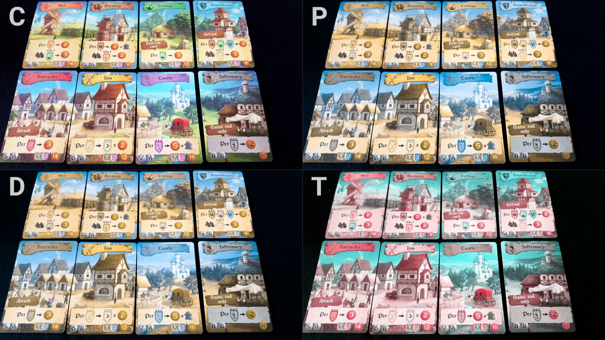 Colour blindness and cards in Majesty