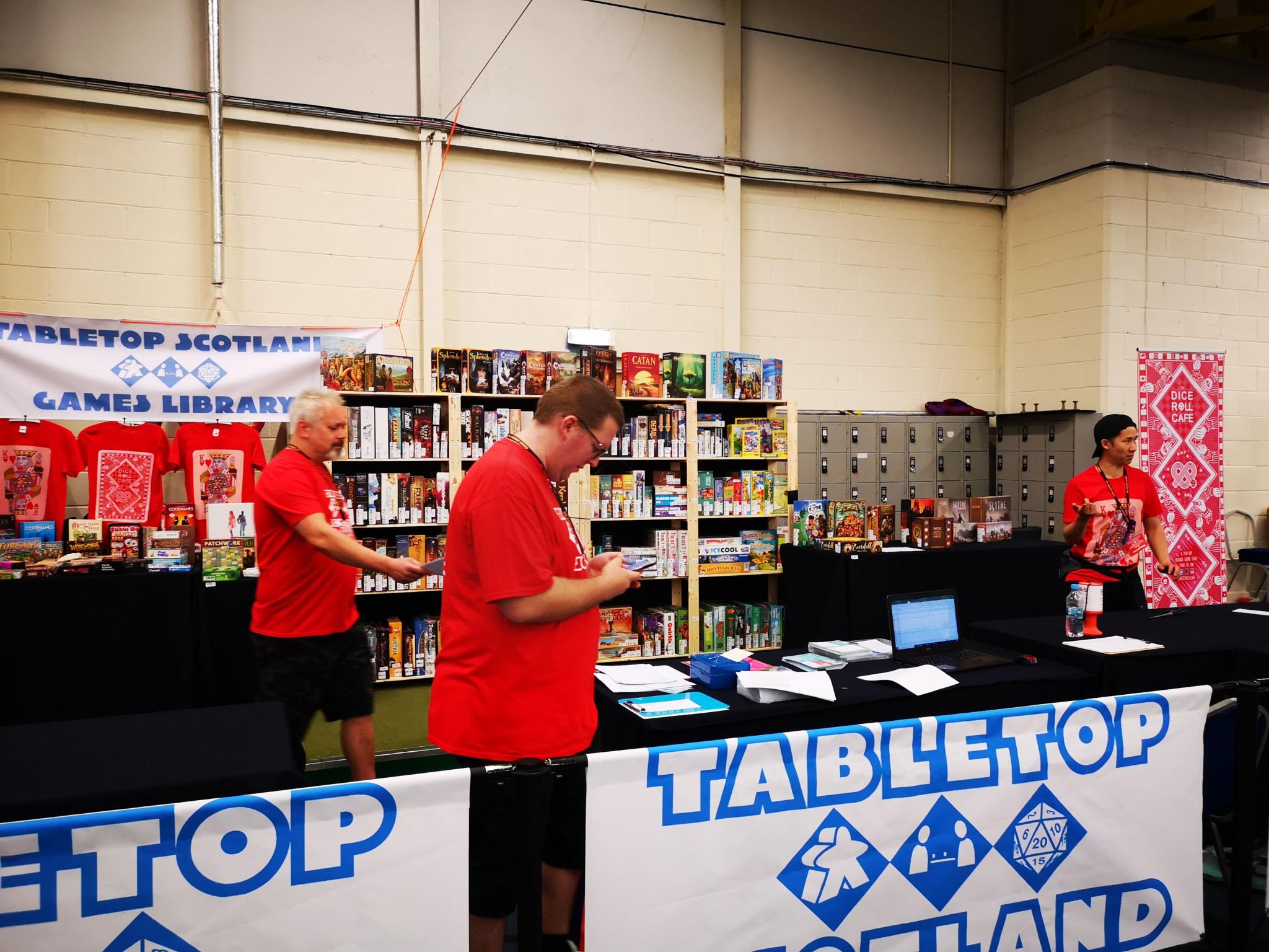 Board game library at Tabletop Scotland