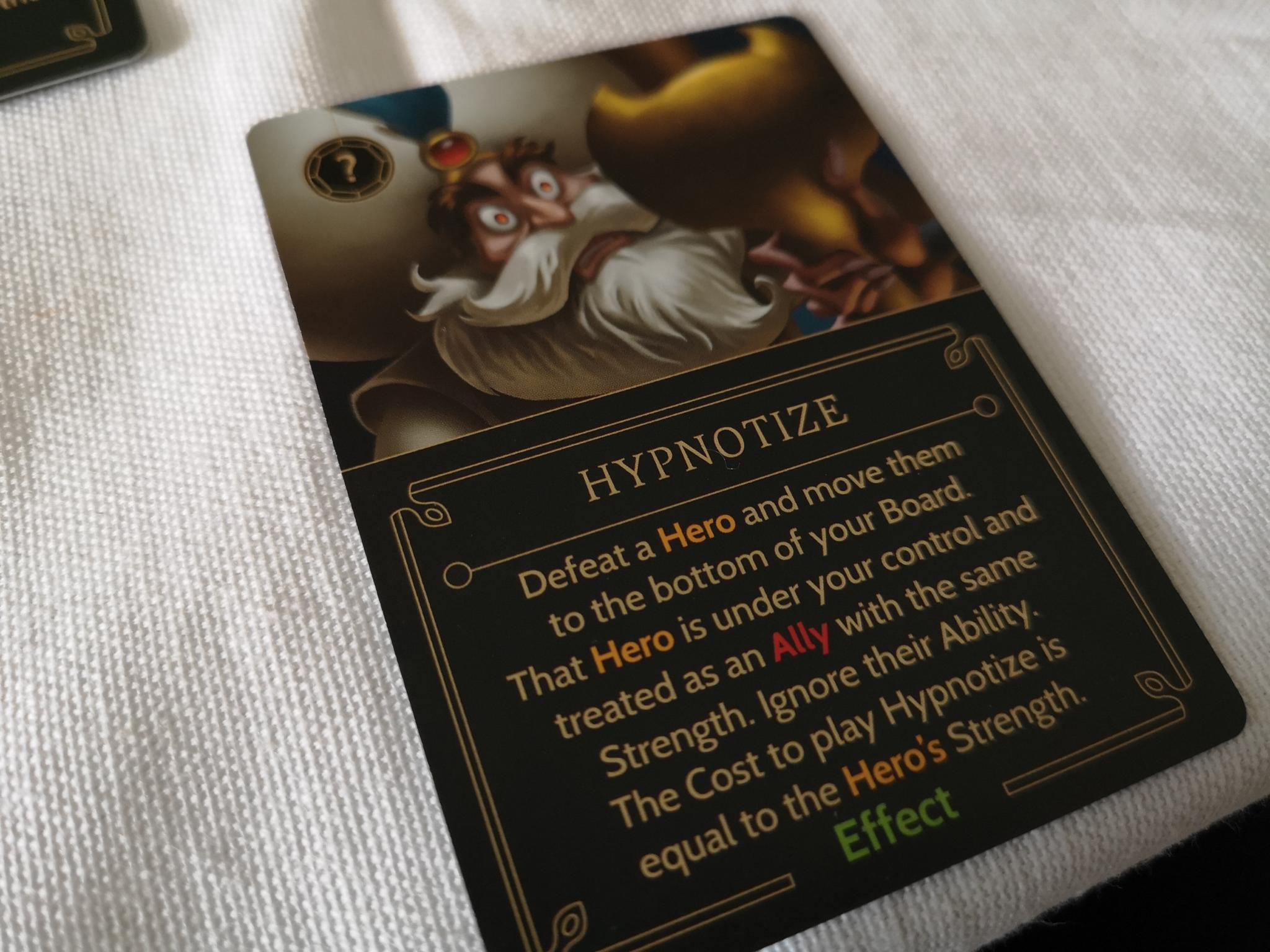 Hypnotise card