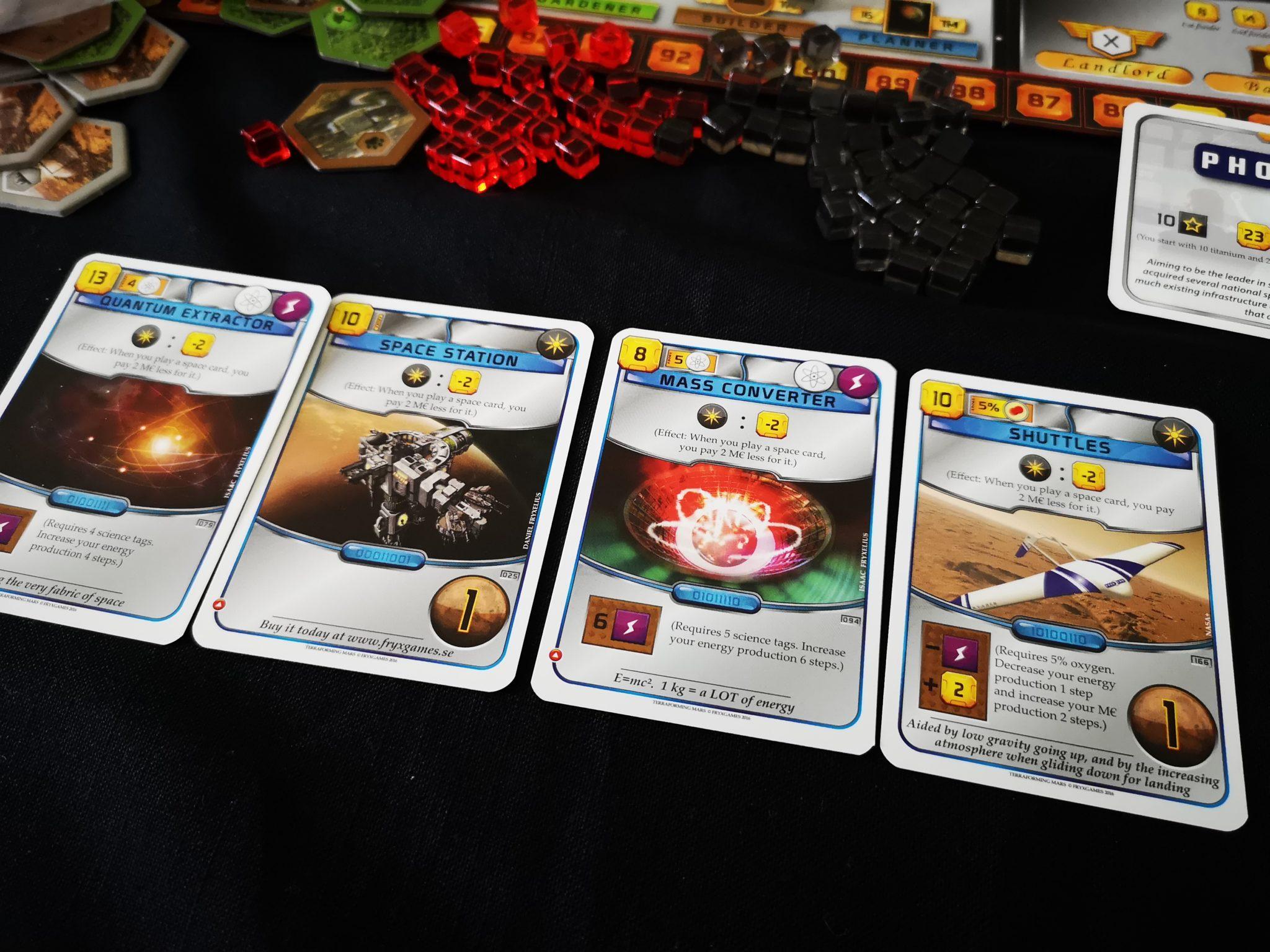 A set of four cards
