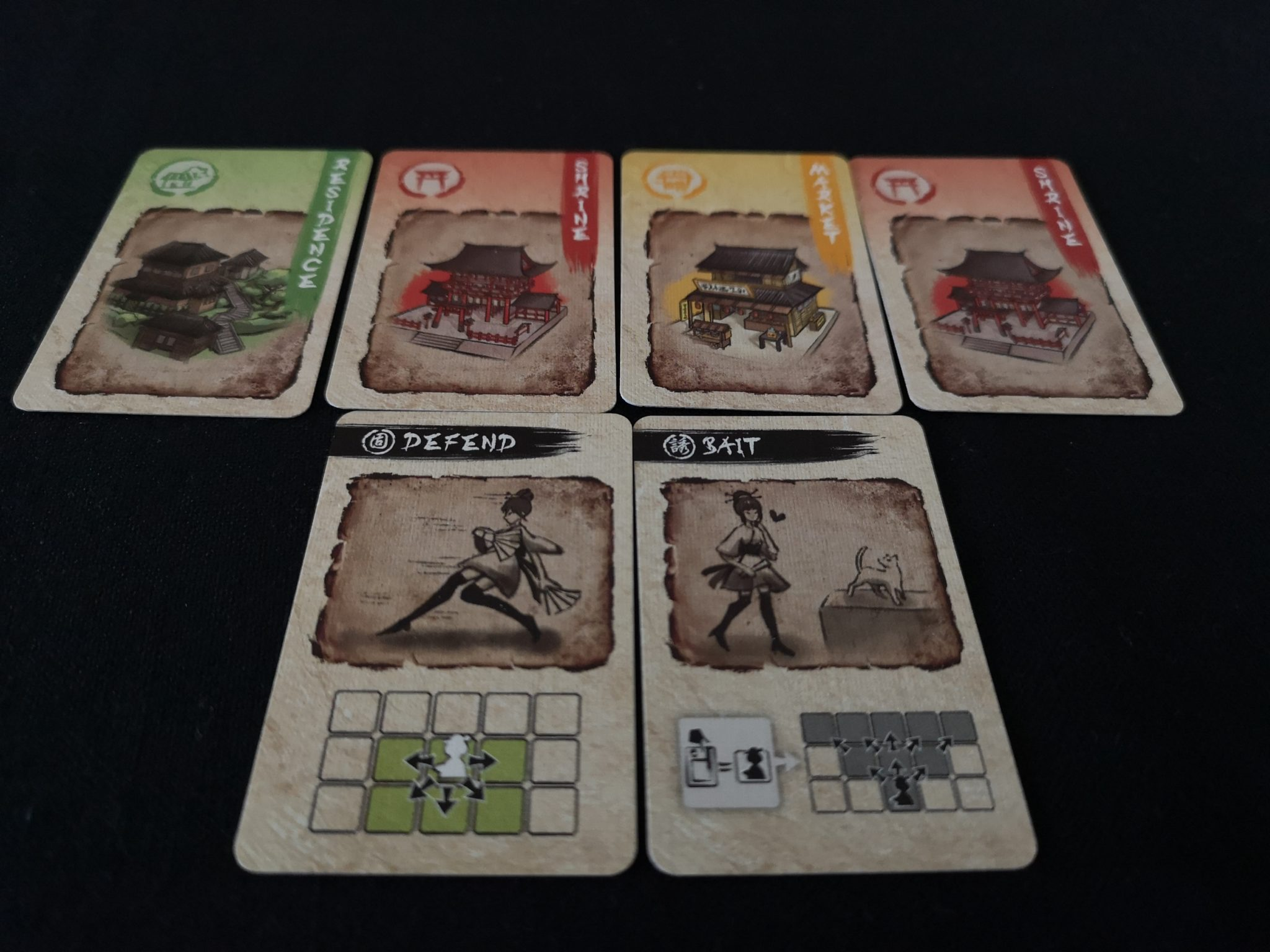 Location and Tactics cards