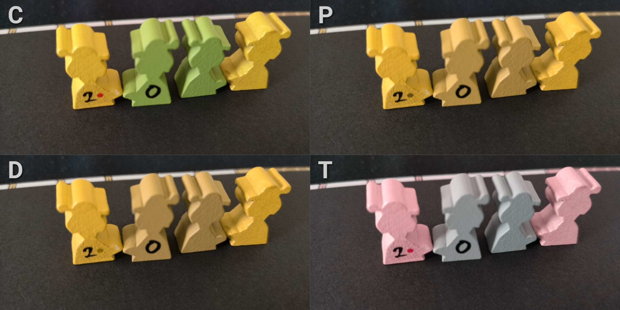 Colour blindness meeples