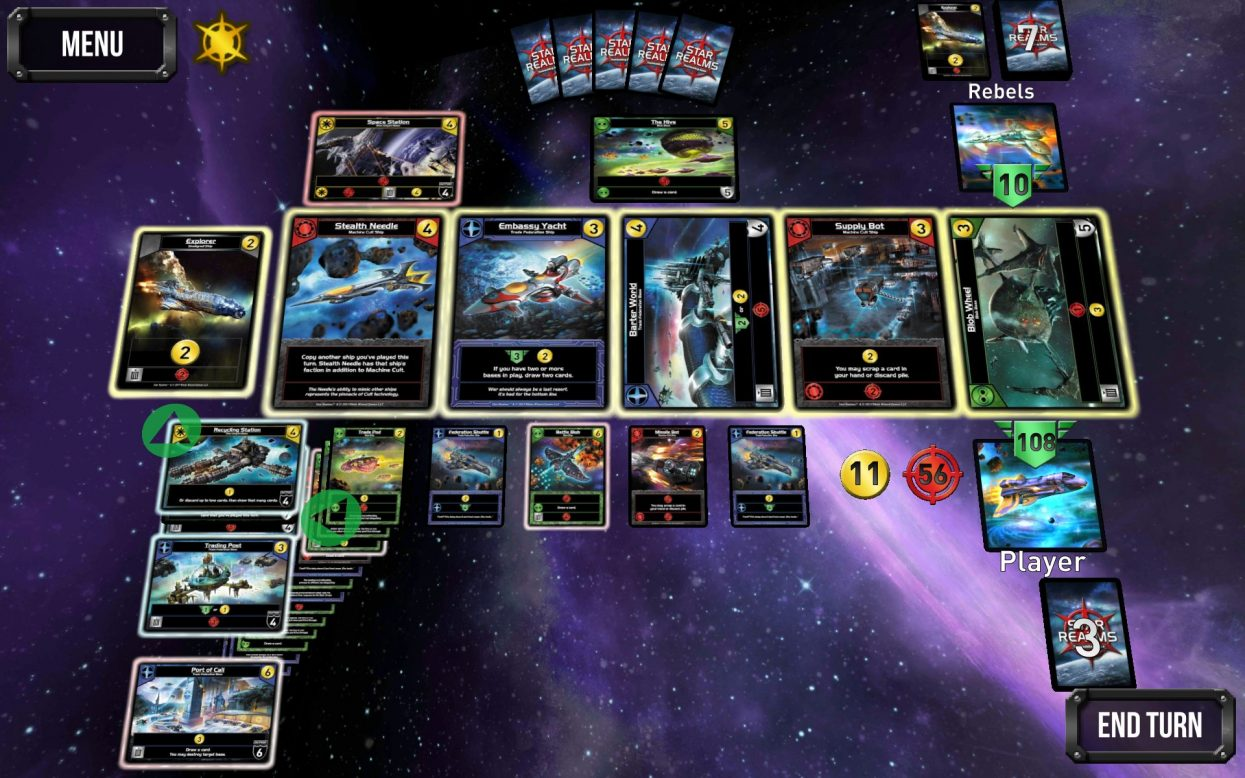 Star Realms selected cards